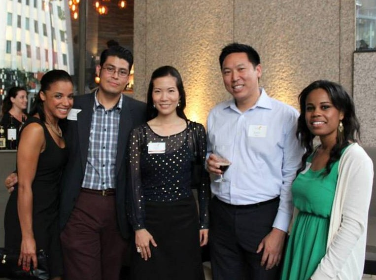 YLS members from left to right: Mabel Diclo, David Solares, YLS President Grace Kim, Justin Shiau, Fiawna Jones