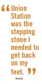 quote from formerly homeless woman