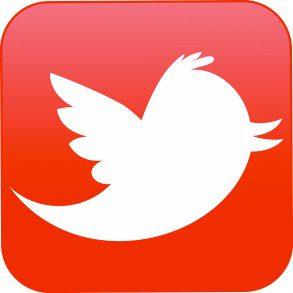 Twitter logo orange